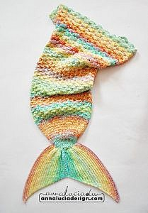 Crochet Mixed Rainbow Mermaid Tail Annaluciadesign