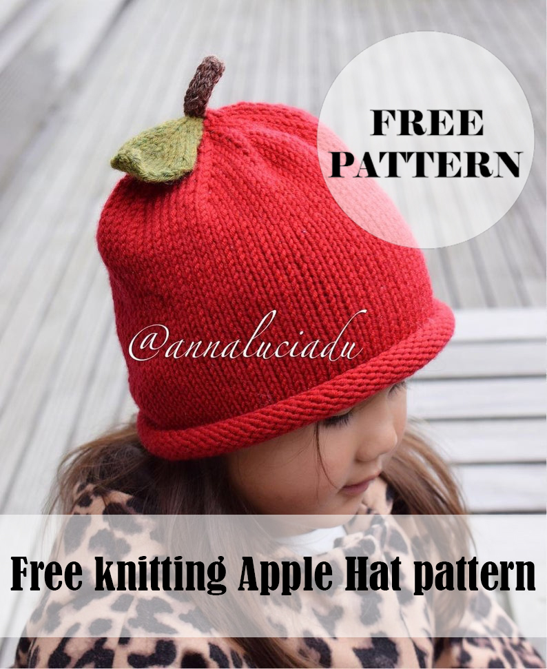 Knitting Apple Hat Free pattern
