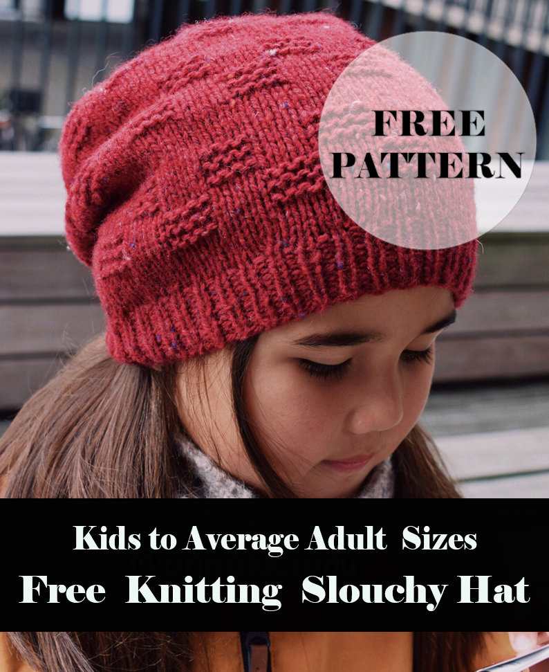 Knitting Wave Slouchy Hat Free pattern
